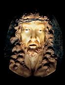 italy, sardinia, sanluri, the castle, wax modelling of cristo morto
