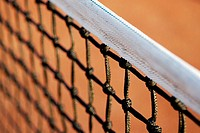 Close-up of a tennis net