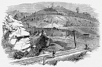 Baltimore and Ohio Railroad: Ladder of inclines over Boardtree Hill which allowed two carriages at a time from a full train to be shunted up an over t...