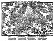 French Religious Wars 1562-1598 Battle of St Denis, 10 November 1567, between Huguenots under Louis, Prince de Conde 1530-1569 and the royal army unde...