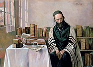 A Rabbi in his Study', 1867-1953  ARTIST'S COPYRIGHT MUST ALSO BE CLEARED  Alois Heinrich Priechenfried