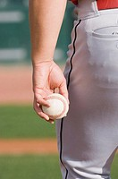 Pitcher holding Baseball
