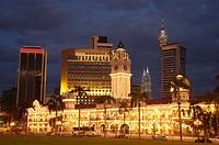 Malaysia, Kuala Lumpur, Sultan Abdul Samad Building, dusk