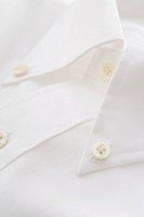 Collar of white shirt