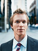 Outdoor Portrait of a Young Businessman