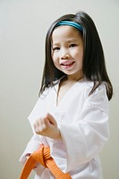 Girl 3-5 in Taekwondo uniform