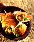 curried peas in filo pastry topic: curries