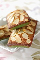 pistachio and almond sponge fingers