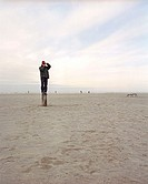 Lonesome fotographer, St Peter-Ording, Germany