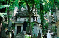 Tombstones in the Pere Lachaise Cemetery