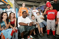 Florida, Miami, Dolphin Stadium, Marlins Baseball Fan Fest. Player Reggie Abercrombie