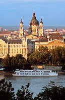 St Stephen Basilica and Danube Bank, Budapest, Hungary