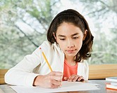 Girl writing (thumbnail)