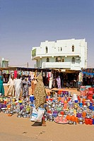 Sudan, Karima, utensils on sale at the market