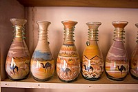 Jordan, Petra, colored sand in bottles