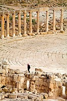 Jordan, Jerash, view from temple of Zeus (thumbnail)