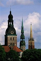 Latvia, Riga, Old Town, St Peter's church