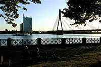 Latvia, Riga, bridge upon the River Dauvaga