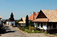 Hungary, Hollok÷, traditional church and houses