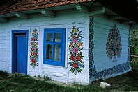 Poland, Zalipie, housepainted