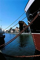 Poland, Gdansk, quays of the Motlawa River