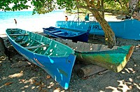 Costa Rica, Caribbean coast, Puerto Viejo, fishing boats
