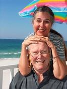 Happy Couple Having Fun on the Beach