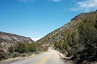 Highway near Rio Grande River