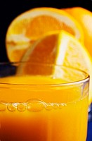Close-up of a refreshing glass of orange juice