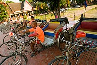 Thailand, Bangkok, Pedicabs at Ayuthaya  NO MODEL RELEASE