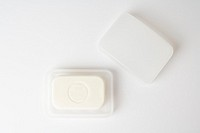 still life of soap in soap dish