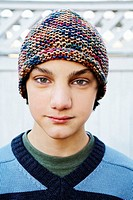 Teenage Boy Wearing Knit Cap