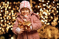 Young girl with a Christmas gift