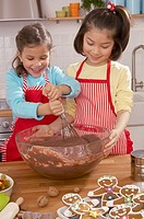 Children making cookies