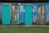 Disused storehouse. Tortuguero village. Atlantic Coast. Costa Rica. Central America