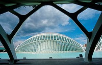 L´Hemisferic, named, ´the, eye´, architect, Santiago, Calatrava, IMAX-Cinema, and, planetarium, City, of, Arts, and, Sciences, Valencia, Costa, Blanca...
