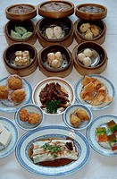 Dim, Sum, food, in, restaurant, Georgetown, Island, Penang, Malaysia,