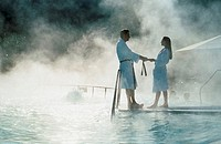 Couple, in, thermal, bath, Bad, Waltersdorf, Austria, Paar, im, Thermalbad, Bad, Waltersdorf, Steiermark, Oesterreich, Therme