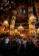 Assumption Cathedral, interior. Kremlin. Moscow. Russia