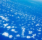 Ocean and clouds, aerial view