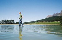 Man walking on water