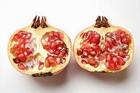 Pomegranate, halved