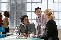 Business team talking