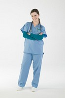 Portrait of Nurse in Scrubs