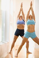 Women in yoga pose