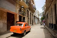 Old classic car parked in Old Havana. Cuba
