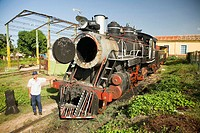 Touristic train going to the estate of Manaca Iznaga, where there used to be big extensions of sugar cane worked by slaves. Today is a touristical pla...