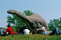 Italy, Lombardy, Rivolta d´adda. Park of the Prehistory, Brontosaurus.