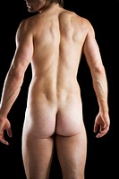 A male nude, back view