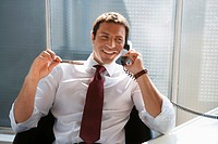 Business man using a phone